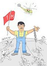 Cartoon: laborer (small) by yasar kemal turan tagged laborer