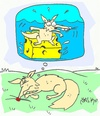 Cartoon: love of cheese (small) by yasar kemal turan tagged love cheese fox