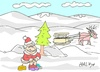 Cartoon: need (small) by yasar kemal turan tagged need father christmas toilet