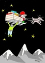 Cartoon: passenger (small) by yasar kemal turan tagged passenger father christmas santa love