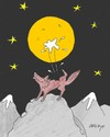 Cartoon: recital in the moonlight (small) by yasar kemal turan tagged recital,in,the,moonlight