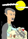 Cartoon: statement (small) by yasar kemal turan tagged statement,besar,esad,vanpir,blood,drinker