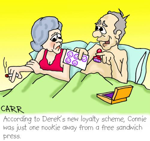 Cartoon: Loyalty card (medium) by carrtoons tagged loyalty,cardss,marketing,marriage