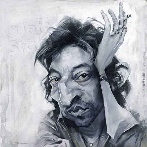 Serge Gainsbourg Caricature