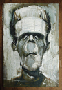 Cartoon: Frankie by Jeff Stahl (small) by Jeff Stahl tagged frankenstein,creature,monster,horror,universal,monsters,legend,boris,karloff,classic,movie,movies,oil,painting,traditional,rough,canvas,brushwork,illustration,caricature,jeff,stahl,oils,brush,oilpainting
