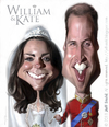 Cartoon: William and Kate (small) by Jeff Stahl tagged william,kate,middleton,royal,wedding,caricature,jeff,stahl,freelance