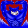 Cartoon: monster (small) by benni p-aus-e tagged monster,bad,evil,bat,muscle,freak