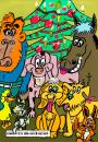 Cartoon: Weihnachtsgruß (small) by Lutz-i tagged weihnachten