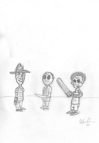 Cartoon: little monsters (medium) by pecurone tagged freddy,krueger