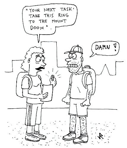 Amazing Cartoon: Amazing Race By Jani The Rock