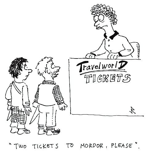 Cartoon: Tickets (medium) by Jani The Rock tagged mordor,hobbit,lord,of,the,rings,lotr,tolkien