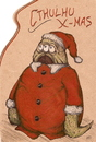 Cartoon: Cthulhu X-mas (small) by Jani The Rock tagged cthulhu christmas xmas lovecraft horror
