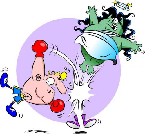 Cartoon: Punch! (medium) by Zeb tagged boxer,punch,monster