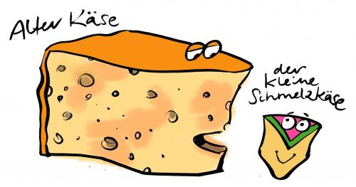 Cartoon: Alter Käse (medium) by Jollustration tagged käse,gouda,lebensmittel,essen,food,for,fun