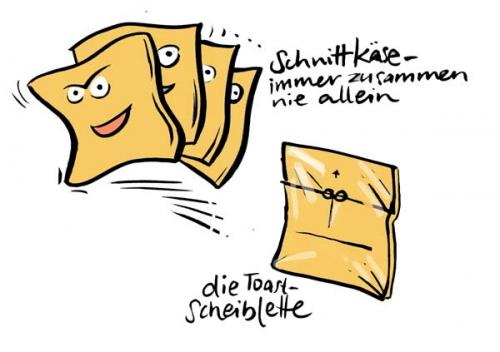 Cartoon: Scheibletten (medium) by Jollustration tagged käse,gouda,lebensmittel,essen,food,for,fun