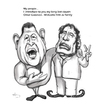 Cartoon: Dictators bond (small) by AudreyD tagged gaddafi,chavez,caricature,humor,audrey