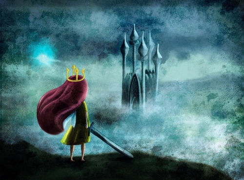 Cartoon: Child of light (medium) by alesza tagged child,light,fanart,digitalart,digitalpainting,digitalillustration,unikatdesign