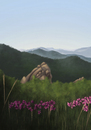 Cartoon: Spring (small) by alesza tagged spring,frühling,nature,flowers,mountains,blumen
