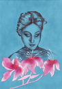 Cartoon: Three Flowers (small) by alesza tagged three flowers pink blue portrait woman