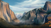 Cartoon: Yosemite (small) by alesza tagged yosemite national park autumn nature painting drawing photoshop environment