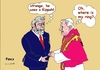 Cartoon: Lula and the Pope (small) by Fusca tagged politicians,pope,third,world,corruption,immorality,religion
