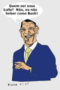 Cartoon: Obama (small) by Fusca tagged obama,brazil,lula,bolivarian,regime,third,world
