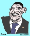 Cartoon: Obama (small) by Fusca tagged obama politicians usa international dictatorships subimperialism