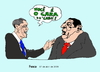 Cartoon: Obama with Chavez in Trinidad T. (small) by Fusca tagged obama chavez lula joke