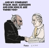 Cartoon: Pope visits Nosferatu (small) by Fusca tagged communism,terrorism,religion,dictatorship