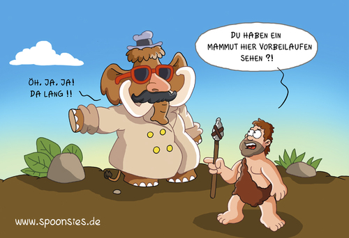 Cartoon: mammutverkleidung (medium) by ChristianP tagged mammutverkleidung