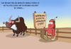 Cartoon: aggressiver stier (small) by ChristianP tagged aggressiver,stier