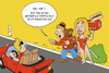 Cartoon: Baywotsch (small) by ChristianP tagged baywatch