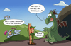Cartoon: Jungfrau (small) by ChristianP tagged jungfrau