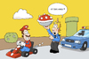 Cartoon: mario kart (small) by ChristianP tagged mario,kart