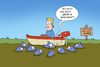 Cartoon: Piranha-Abitur (small) by ChristianP tagged piranha