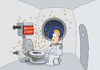 Cartoon: Space toilet (small) by ChristianP tagged space,toilet