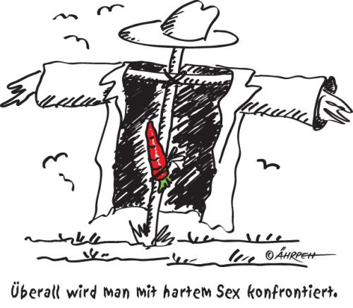 Cartoon: Sex (medium) by rpeter tagged vogelscheuche