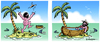 Cartoon: Badefreuden (small) by rpeter tagged baden,meer,palme,insel,schiffbruch,boot,nackt
