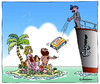 Cartoon: Soforthilfe (small) by rpeter tagged nackt,kinder,mann,frau,sex,condome,insel,liebe,schiffbruch