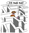 Cartoon: Vaterfreuden (small) by rpeter tagged labyrinth,kind,kinder,vater