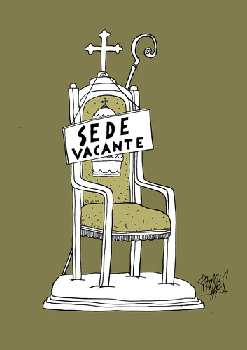 Cartoon: Sede vacante (medium) by Ramses tagged pope,vatican,catholicism,rome