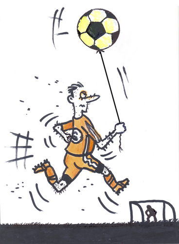 football ball cartoon. Cartoon: Football (medium) by