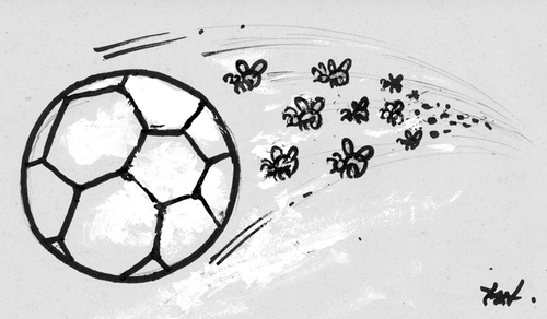 football ball cartoon. Cartoon: Football 2011