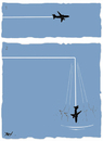 Cartoon: Flight (small) by Monica Zanet tagged zanet fly air