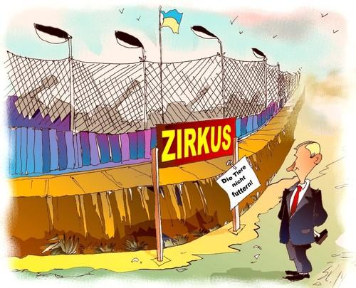 Zaun By Medwed1 Politics Cartoon Toonpool