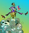 Cartoon: Ohne (small) by medwed1 tagged obama,usa,politik,weltbetrug