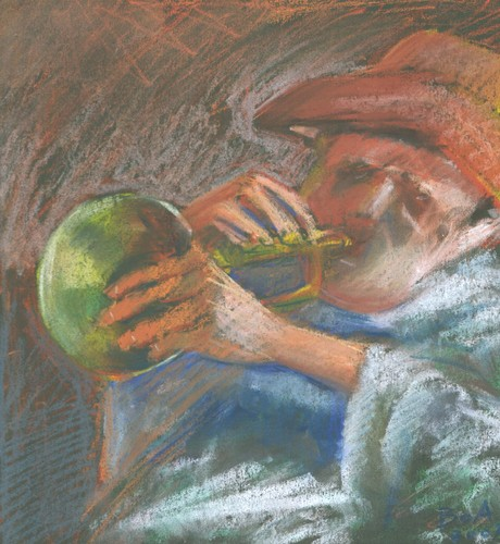 Cartoon: Music (medium) by boa tagged painting,color,oil,boa,romania,painter,landscape