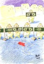 Cartoon: Accident (small) by boa tagged painting,cartoon,boa,comic,humor,romania,funny