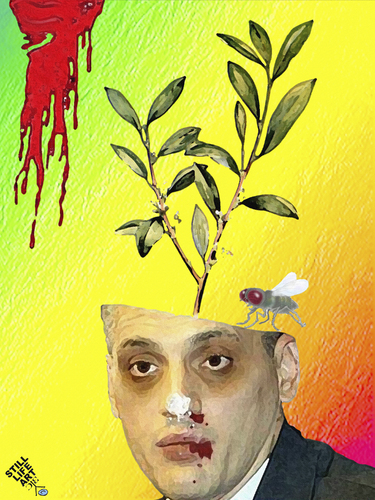 Cartoon: Coca in potted (medium) by Zoran Spasojevic tagged serbia,kragujevac,graphics,collage,digital,paske,emailart,spasojevic,hallucination,lsd,zoran,potted,in,coca