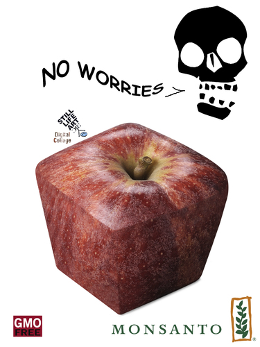 Cartoon: No worries (medium) by Zoran Spasojevic tagged no,worries,gmo,monsanto,digital,graphics,zoran,spasojevic,paske,kragujevac,emailart,serbia